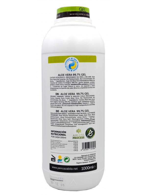 Penca Zábila pure Gel Aloe Vera 1000ml - 99,7%