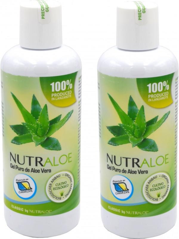 Nutraloe pure gel of Aloe Vera 250ml - 2 Units