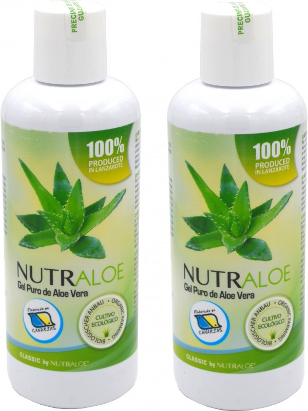 Nutraloe pure gel of Aloe Vera 250ml - 2 Units